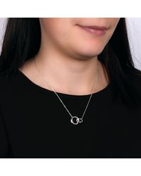 Kit Heath Metallic Bevel Curve Interlink Ring Pendant Necklace