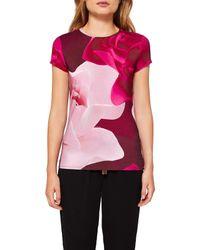 Ted Baker   Pink Somayi Porcelain Rose T-shirt   Lyst