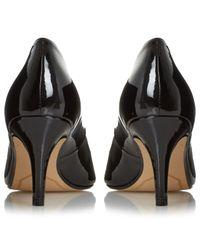 John Lewis Black Amelia Cone Heeled Court Shoes