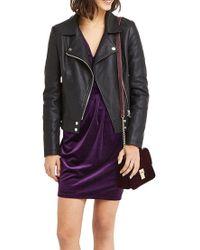 John Lewis Purple Oasis Romana Velvet Wrap Dress