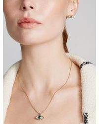 Ted Baker Metallic Swarovski Crystal Hediya Eye Pendant Necklace