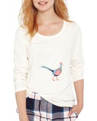Joules White Aubree Game Bird Pyjama Top