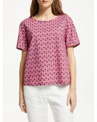 Weekend by Maxmara Red Geo Print Top