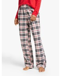 DKNY Red Check Please Flannel Pyjama Bottoms
