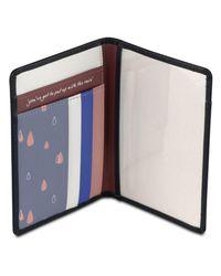 Radley Blue Rainbow Leather Passport Cover