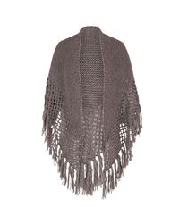 John Lewis Multicolor Chesca Wool Blend Large Fringed Shawl With Crocheted Panel
