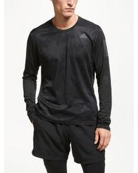 Adidas Black Response Long Sleeve Running Top for men