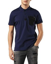 DIESEL Blue T-temp Patch Pocket Polo Shirt for men
