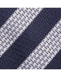 BOSS - Blue Hugo By Italian Diagonal Stripe Silk Tie for Men - Lyst
