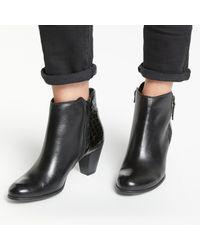 John Lewis - Black Petra Block Heeled Ankle Boots - Lyst