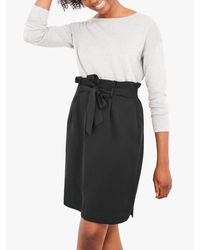 White Stuff Black Neptune Paperbag Skirt