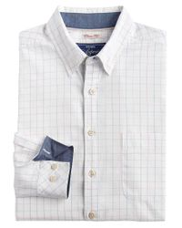 Joules White Welford Oxford Check Classic Fit Shirt for men