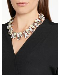 John Lewis - Metallic Coloured Stone Collar Necklace - Lyst