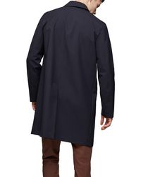 Reiss Blue York Overcoat for men