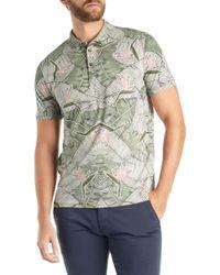 BOSS - White Boss Printime Short Sleeve Leaf Print Polo Shirt for Men - Lyst