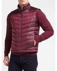 Gant Purple Airlight Down Jacket for men