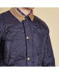 Barbour Blue Canterdale Quilted Jacket for men
