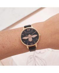 Olivia Burton Multicolor Women's Animal Motifs Bee Leather Strap Watch