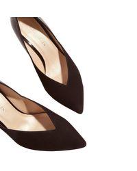 Karen Millen - Black Collection Hammered Heel Court Shoes - Lyst