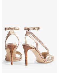 Karen Millen - Natural Woven Stiletto Heel Sandals - Lyst