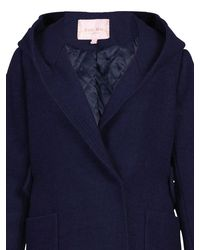 Jolie Moi Blue Hooded Quilted Inner Coat