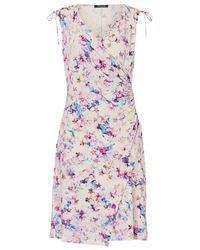 Betty Barclay Multicolor Floral Print Wrap Dress