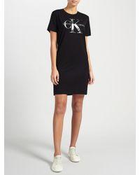Calvin Klein Black Dakota Logo T-shirt Dress