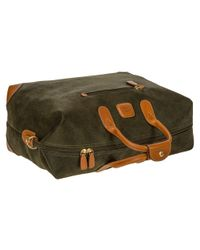 Bric's - Green Life Clipper Medium Holdall for Men - Lyst