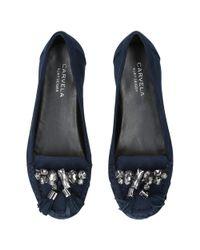 Carvela Kurt Geiger - Blue Leafy Jewelled Loafers - Lyst