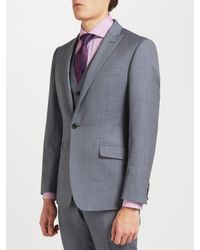 Richard James - Gray Wool Sharkskin Slim Fit Suit Jacket for Men - Lyst
