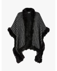 Coast - Black Jaimie Boucle Faux Fur Cape - Lyst