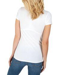 John Lewis White Fat Face Hannah Vee Short Sleeve T-shirt