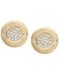 Michael Kors - Metallic Crystal Stud Earrings - Lyst