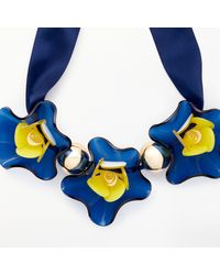 John Lewis - Blue Resin Flower Necklace - Lyst