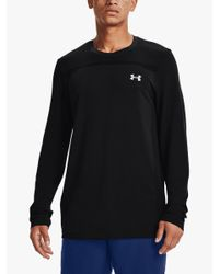 Under Armour Black Seamless Long Sleeve Training Top for men