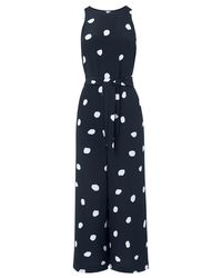 a05b243ceb John Lewis L.k. Bennett Ella Spot Print Silk Jumpsuit in Blue - Lyst