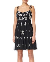 Adrianna Papell Black Beaded Dress