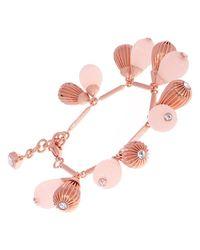 Ted Baker - Pink Perses Mini Plisse Swarovski Crystal Drop Bracelet - Lyst