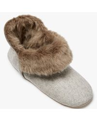 John Lewis | Natural Marled Boot Slippers | Lyst