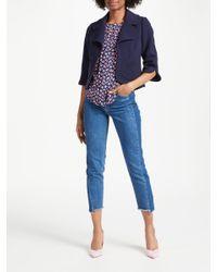 Boden Blue Sylvia Curvy Jacket