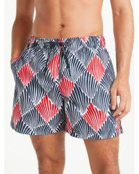 Tommy Hilfiger Blue Shell Print Swim Shorts for men