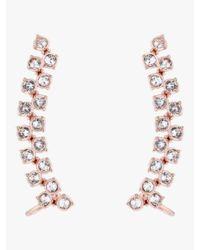 Ted Baker - Metallic Princess Sparkle Swarovski Crystal Cuff Earrings - Lyst
