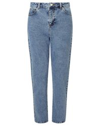 Miss Selfridge Blue Mom Jeans
