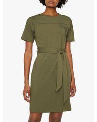 Warehouse Green Utility Dress