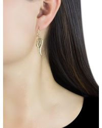Ib&b Metallic 9ct Gold Angel Wing Drop Earrings