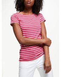 Boden Pink Breton Short Sleeve T-shirt