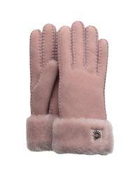 Ugg Gray Sheepskin Turn Cuff Gloves