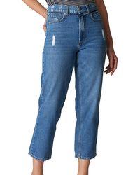Whistles Blue Hollie Straight Leg Jeans