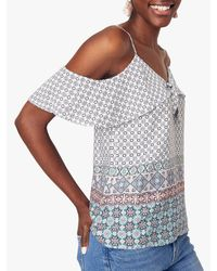 Oasis Blue Tile Patched Camisole