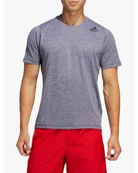 Adidas Gray Freelift Short Sleeve Training Top for men